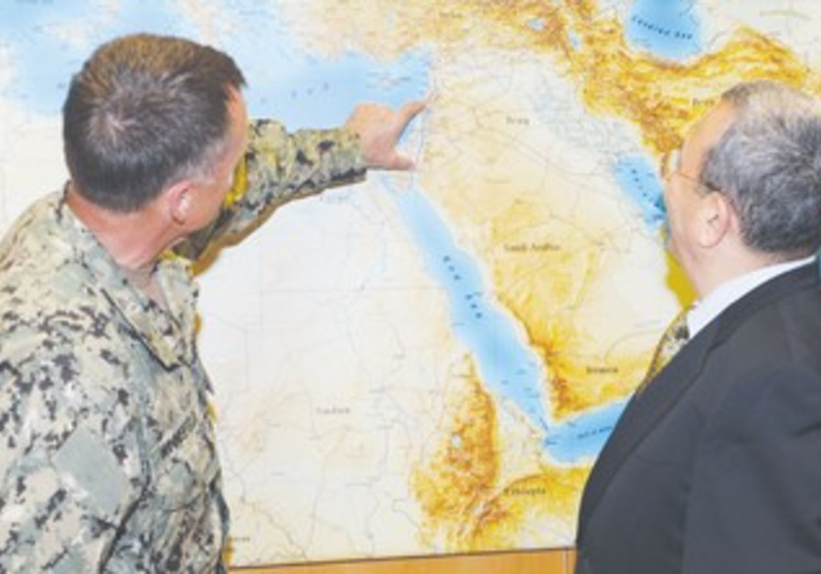 Ehud Barak with US Adm. James A. Winnefeld