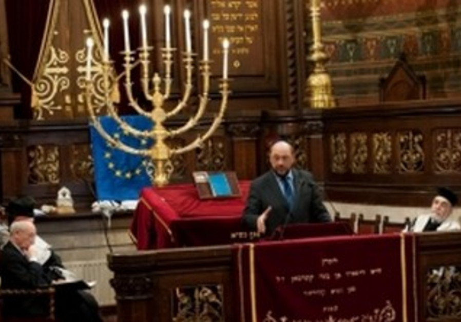 Schulz at Great Synagogue of Europe, Brussels