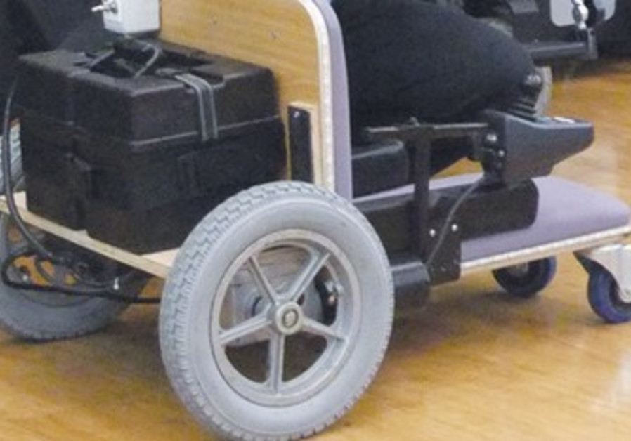 Alyn Hospital motorized weelchair