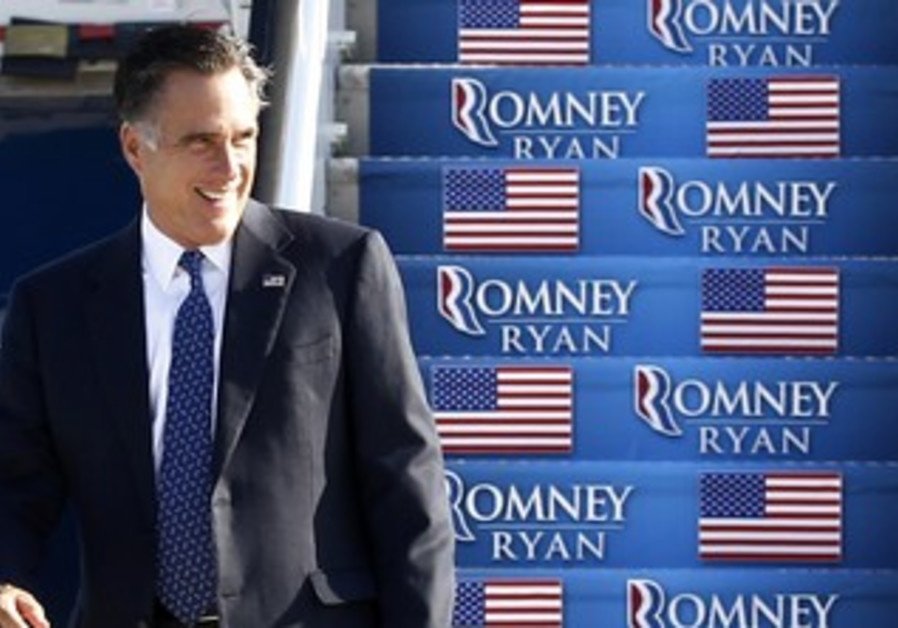 Republican candidate Mitt Romney in Virginia