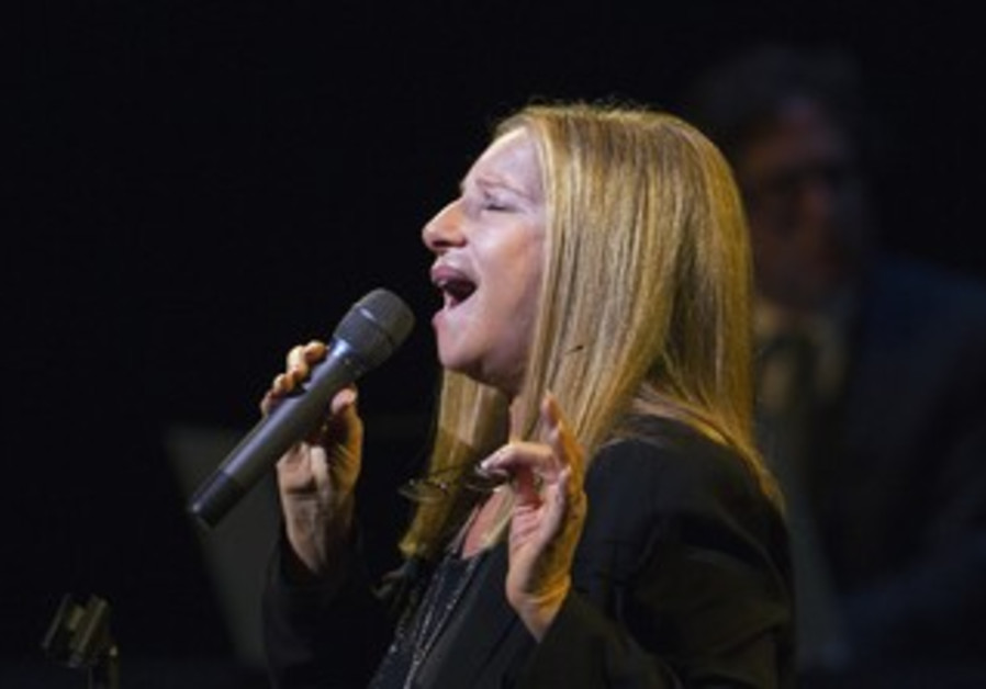 Streisand performs during Marvin Hamlisch tribute