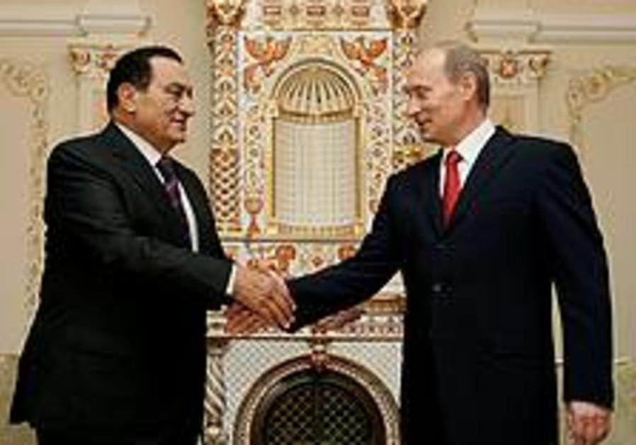 Putin, Mubarak sign agreement on nuclear cooperation