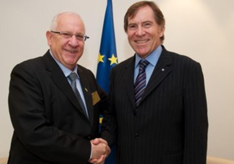 Rivlin with Jean-Claude Mignon in Strasbourg