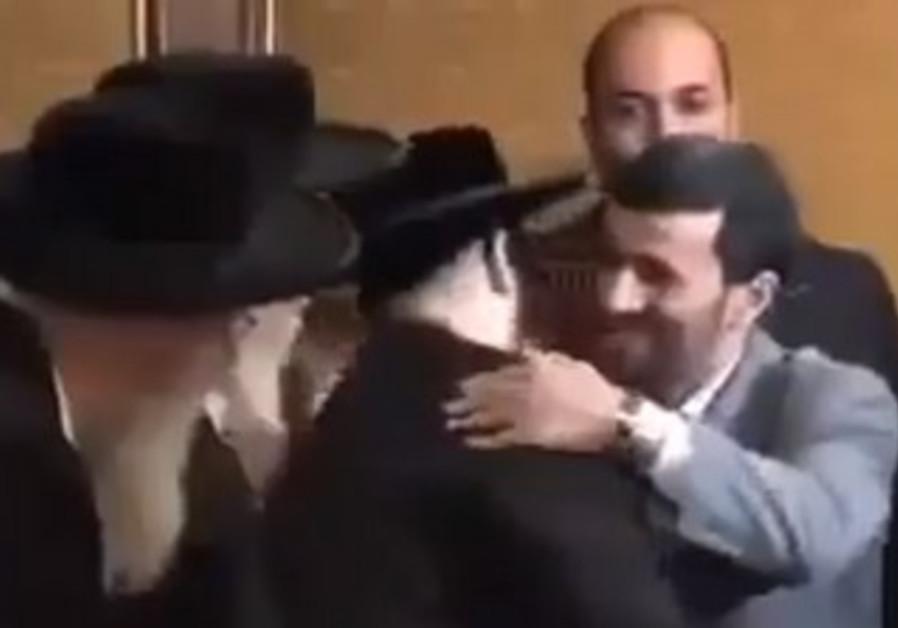 Ahmadinejad, haredim meet in New York