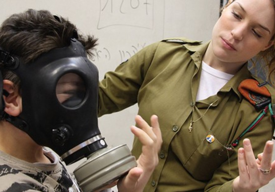 IDF Gas Mask preparedness drill.
