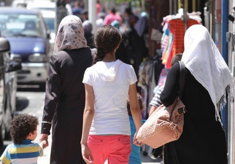 Arabs walking in Jerusalem