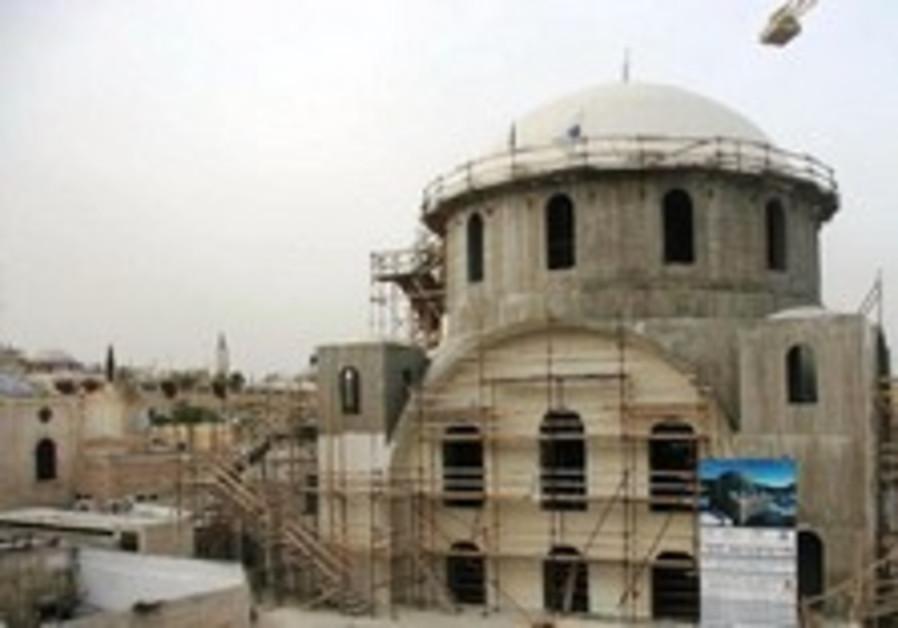 Hurva Synagogue restoration nears completion