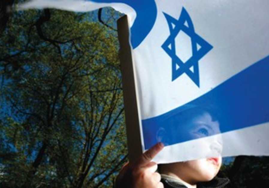 Child with Israel flag