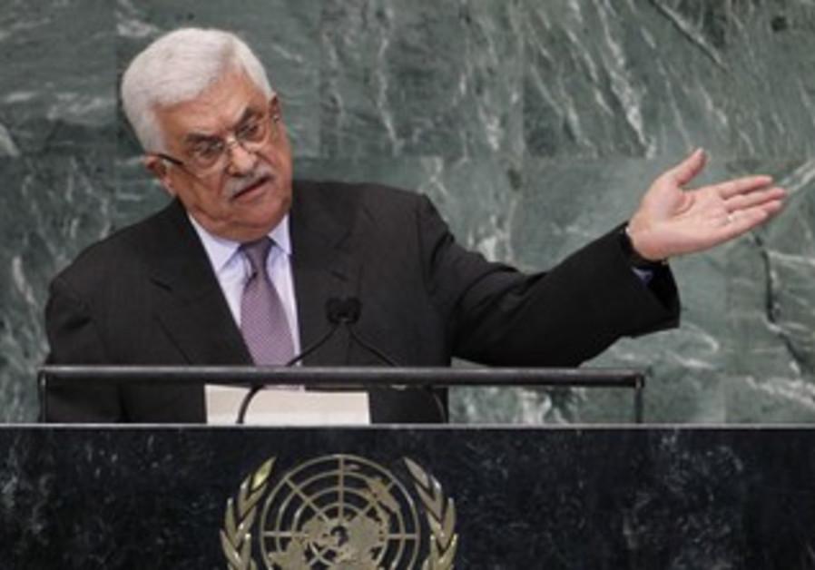 PA President Mahmoud Abbas at the UN