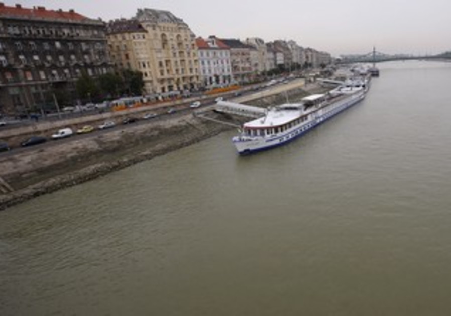 Danube river in central Budapest