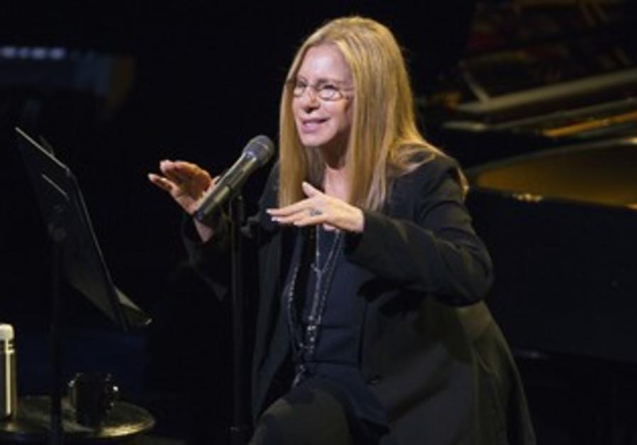 Streisand performs during Marvin Hamlisch tribute