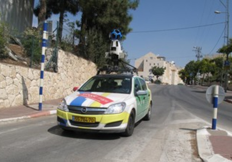 Google Car in Kiryat Arba
