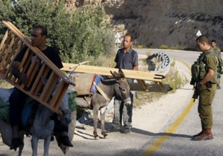 Palestinians return from olive harvest