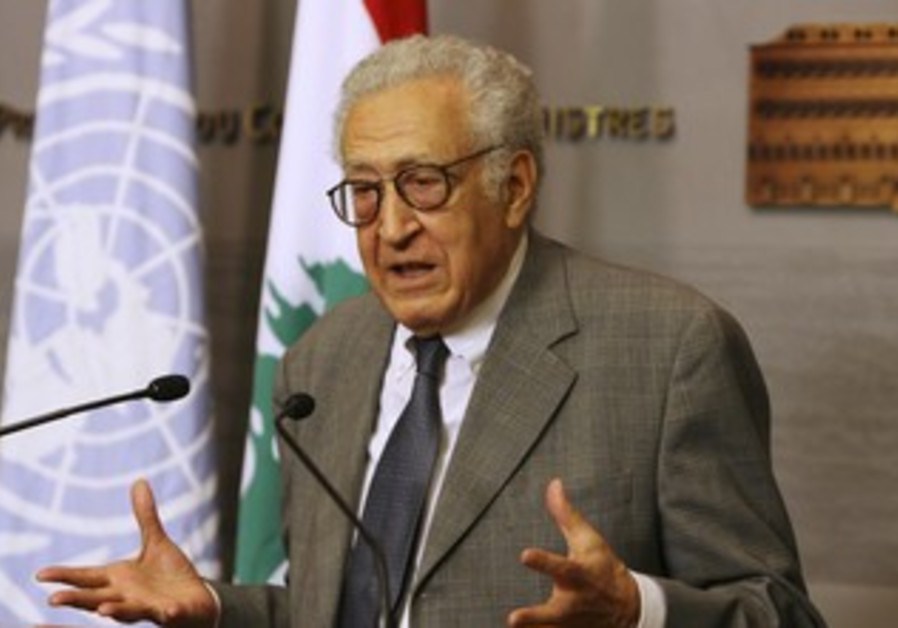 UN peace envoy for Syria Lakhdar Brahimi.