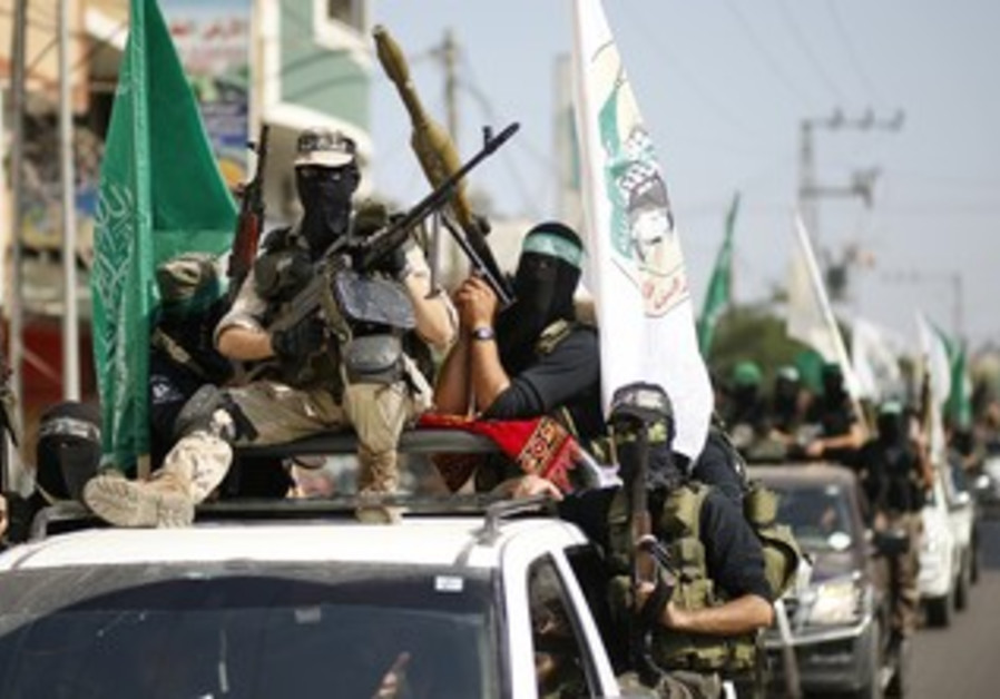Hamas terrorists mark anniversary of Schalit swap
