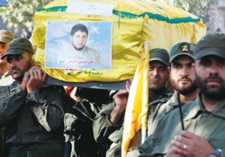 Funeral of Hezbollah fighter in Sehmor village