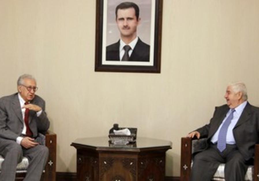 Syria's FM Moualem meets UN-AL peace envoy