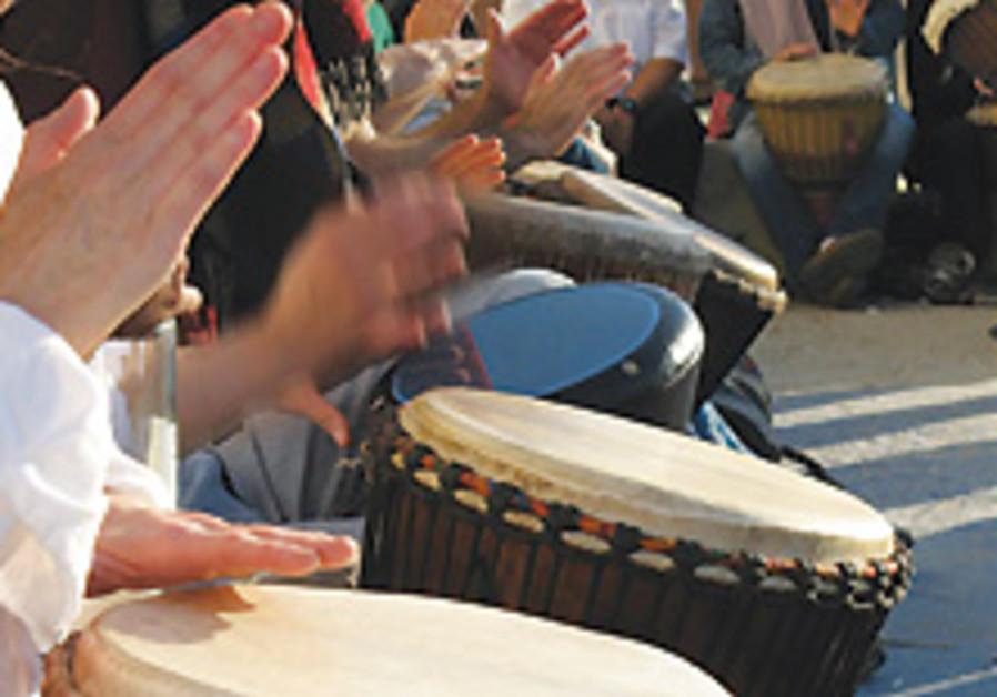 Banging his own drum
