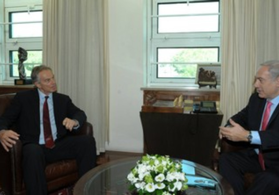 PM Netanyahu meets Quartet envoy Tony Blair