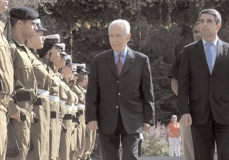 President Peres and Bulgarian President Plevneliev