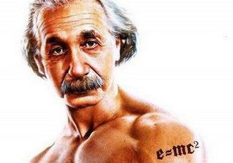 Ad for the GMC Terrain using Albert Einstein