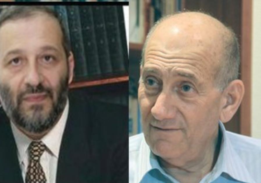 Ariyeh Deri and Ehud Olmert