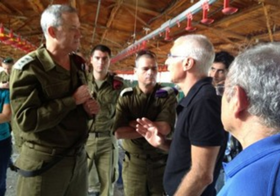 IDF Chief of Staff Gantz tours South
