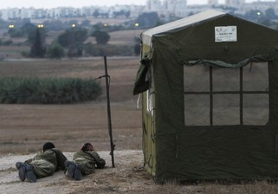 IDF soldiers at Ashkelon Iron Dome battery site