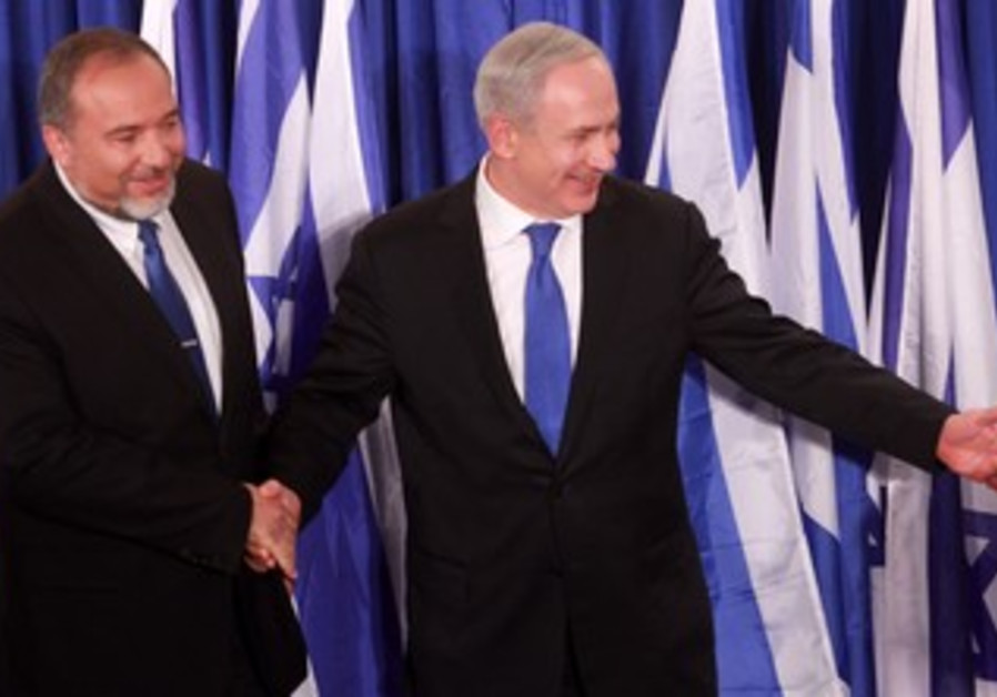 Netanyahu and Liberman announce parties uniting