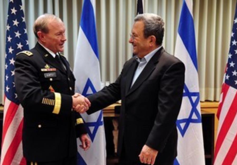 Ehud Barak and Martin Dempsey