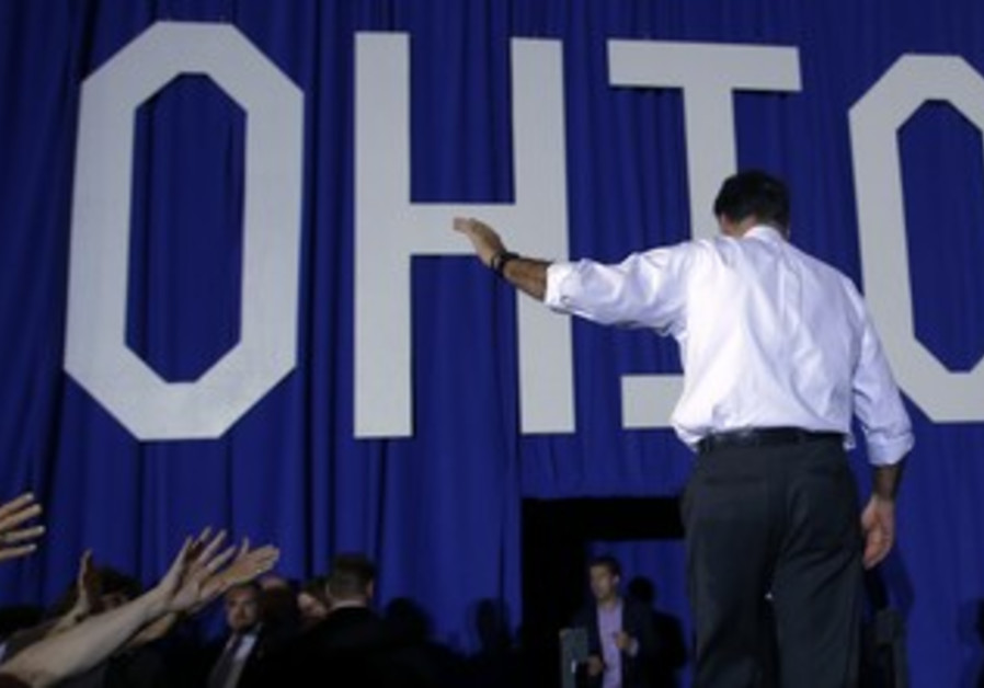 Mitt Romney at a campaign rally in Ohio