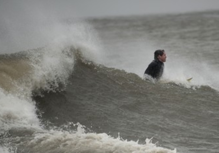 Catching waves before Hurricane Sandy.