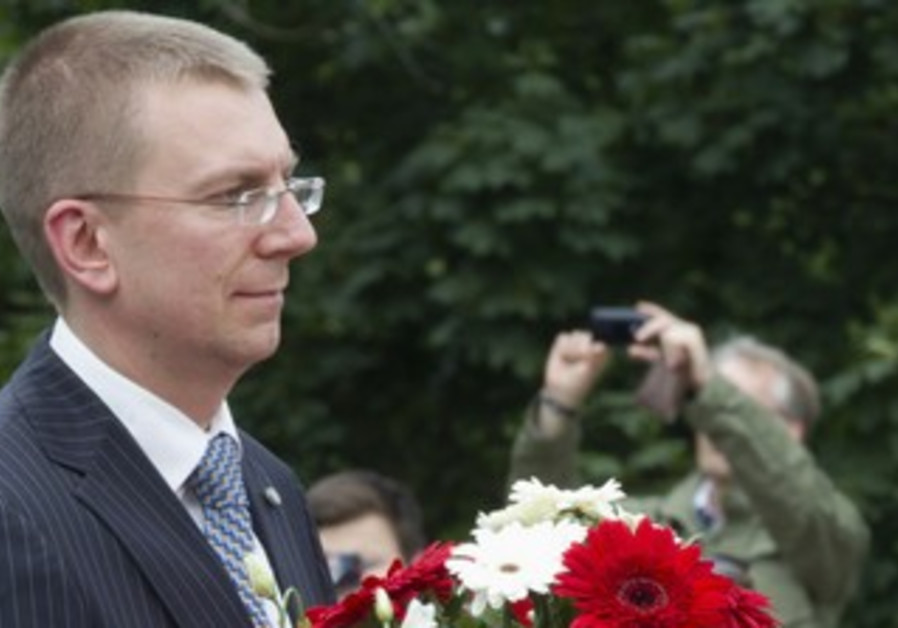 Latvian Foreign Minister Edgar Rinkevics [file]
