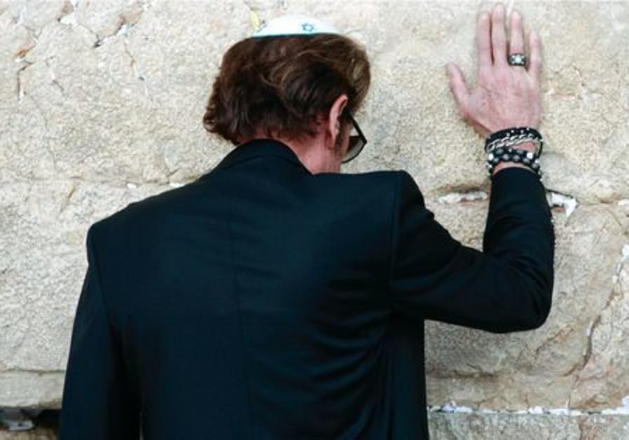 Johnny Hallyday au mur des Lamentations