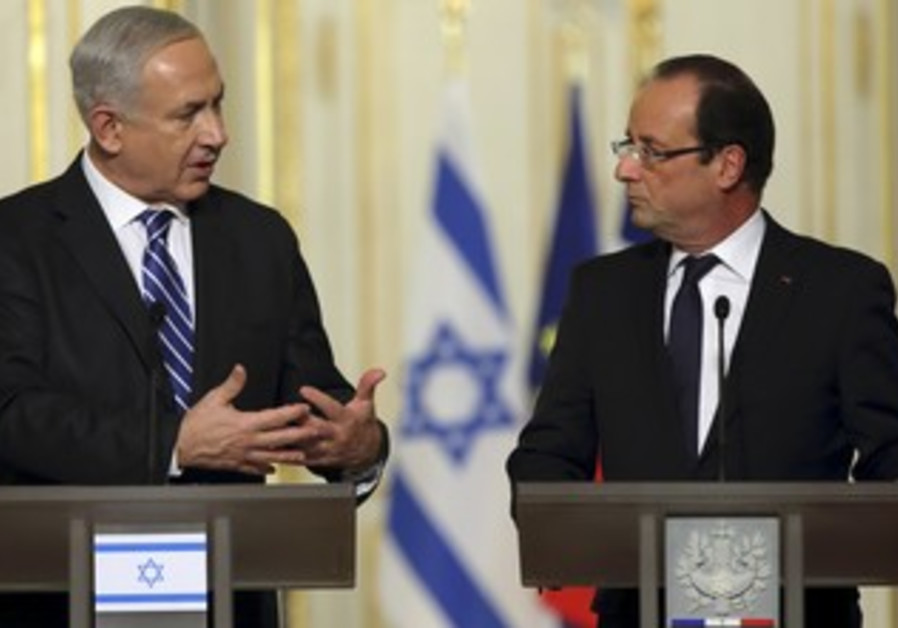 PM Netanyahu and French President Hollande