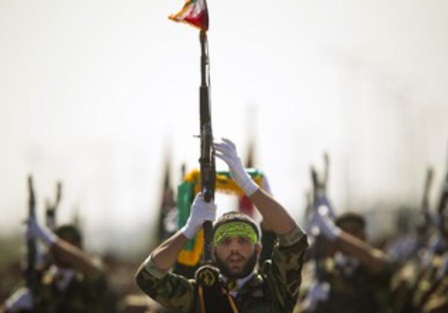 Iran's Basij militia parade