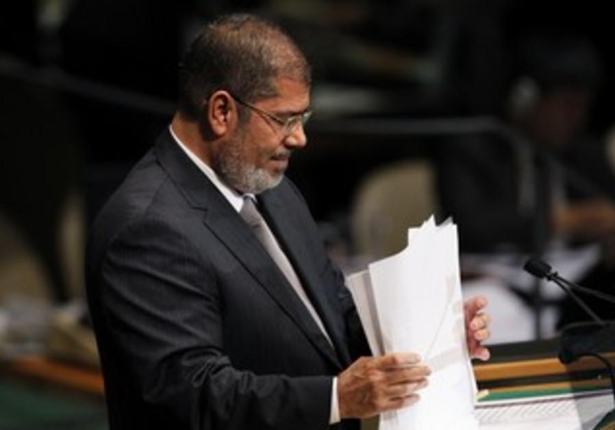 Egyptian President Mohamed Mursi at the UN