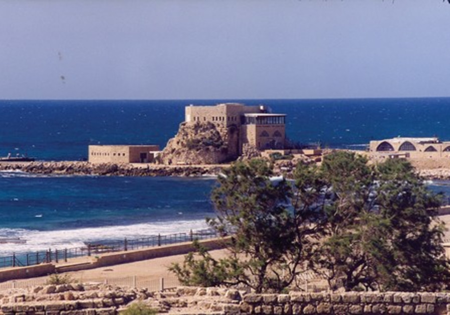 VIEW OF the Caesarea harbor