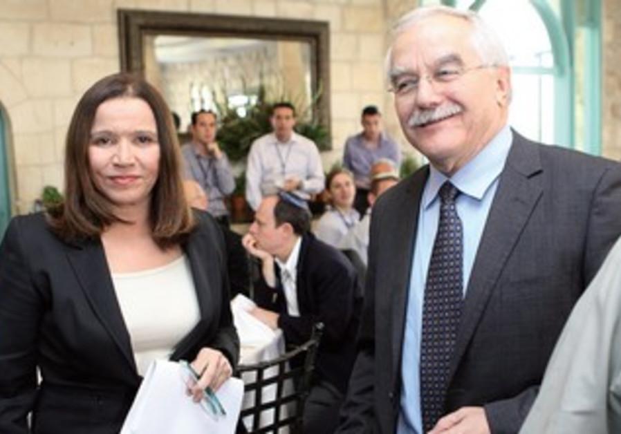 Shelly Yacimovich and Yair Shamir
