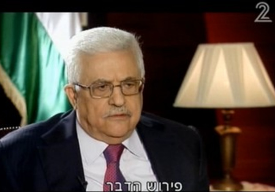 PA President Mahmoud Abbas on Channel 2
