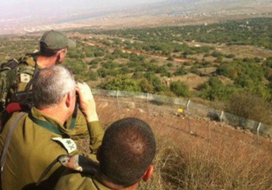 IDF Chief of Staff Benny Gantz tours Syrian border