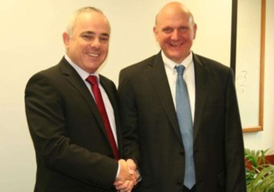 Finance Minister Steinitz, Microsoft CEO Ballmer