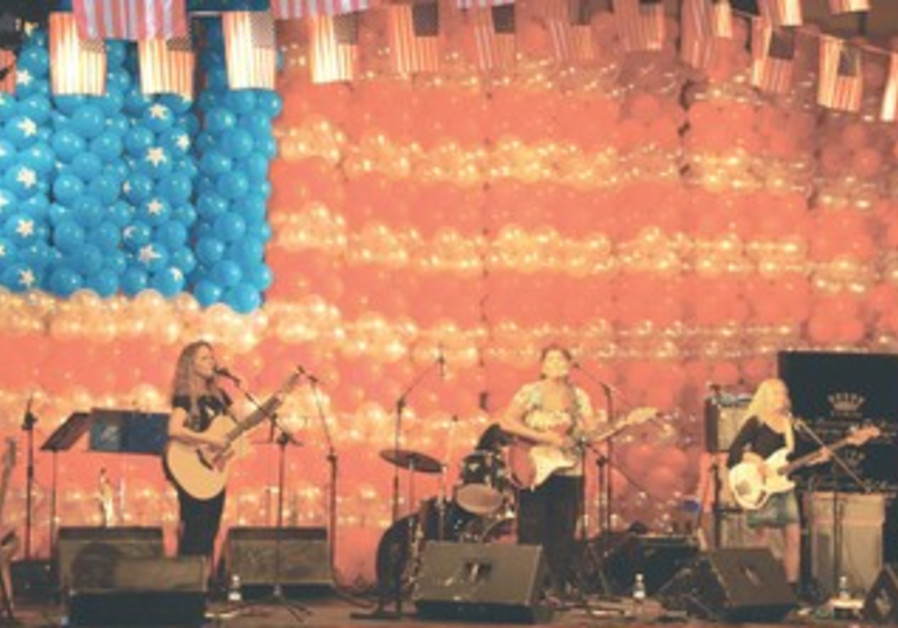A band playing at US Embassy event
