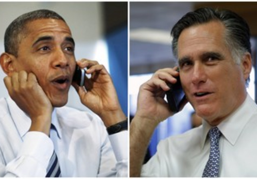 Barak Obama and Mitt Romeny make election calls