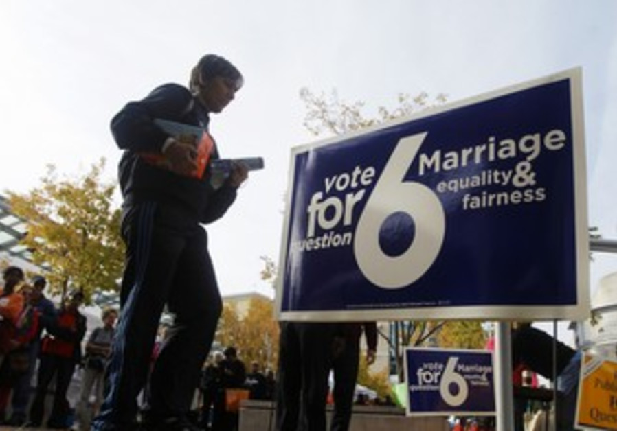 Voting for gay marriage measure in Maryland