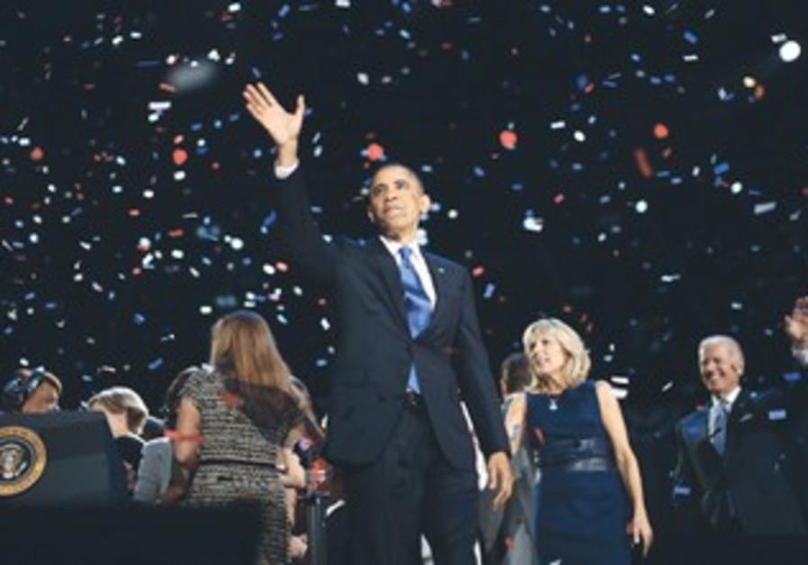 US President Barack Obama re-elected