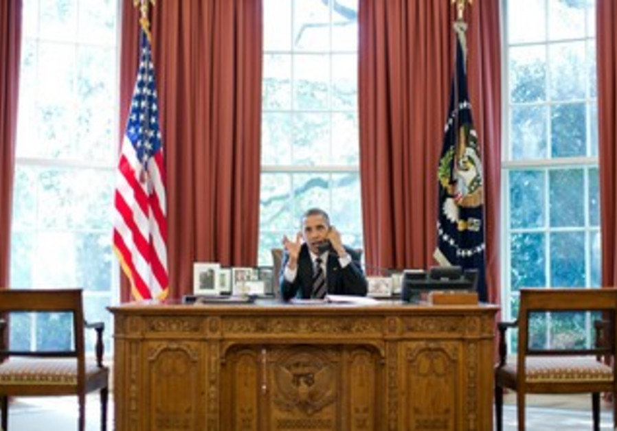 US President Obama speaks with PM Netanyahu