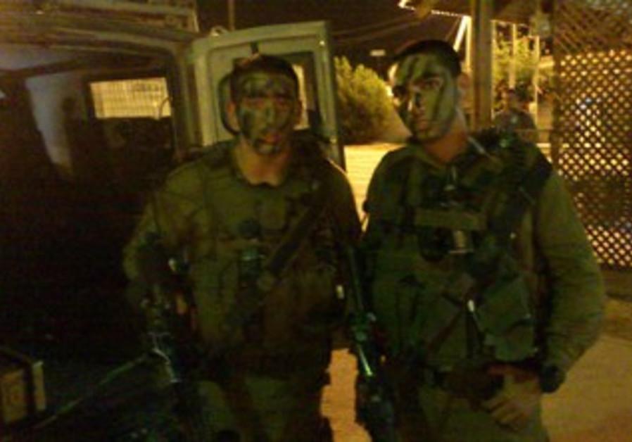 Kfir Brigade soldiers in Azun.