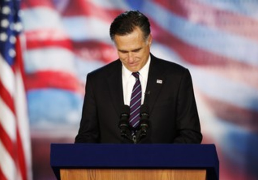 Mitt Romney delivers his concession speech
