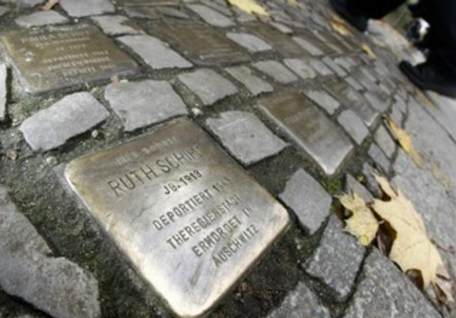 'Stumbling blocks' commemorating Nazi victims